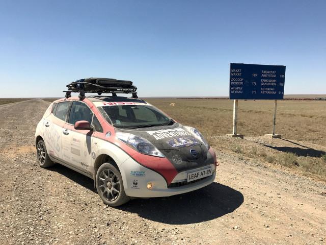 Nissan Leaf Mongol Rally