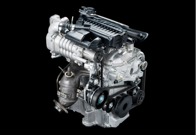 Nissan Supercharged And Direct Injected Three Cylinder Engine