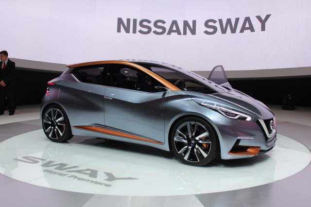 2018 Nissan Leaf Electric Car Sway Concept 2017 Geneva Motor Show Live Photos