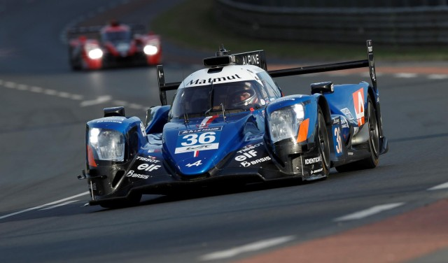 No. 35 Alpine A470 at the 2017 24 Hours of Le Mans