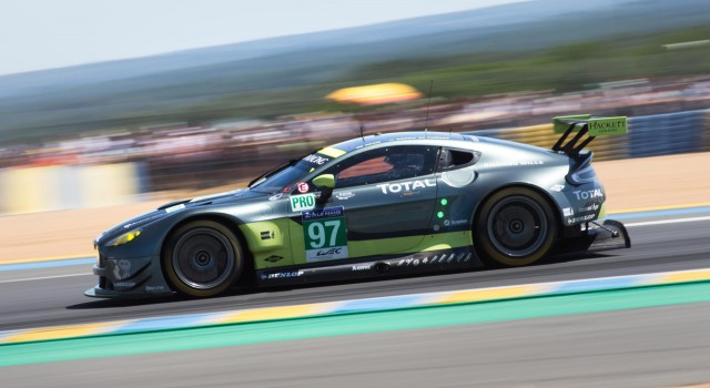 No. 97 Aston Martin Vantage GTE at the 2017 24 Hours of Le Mans