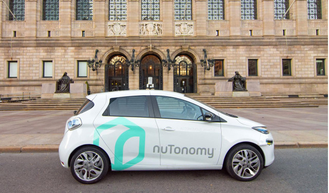 nuTonomy self-driving prototype on the streets of Boston