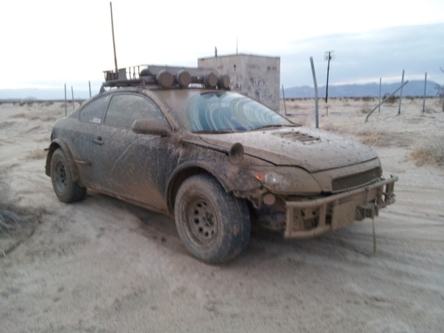 Off-road Scion tC. Images via Wes 'SergeantBiscuits'.