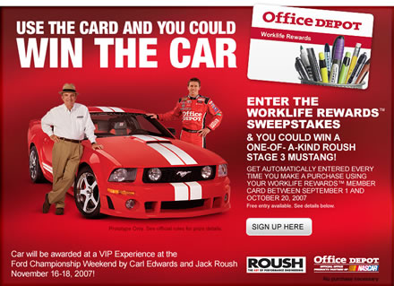 ROUSH Stage 3 Mustang Up For Grabs In Office Depot Promotion Page 2
