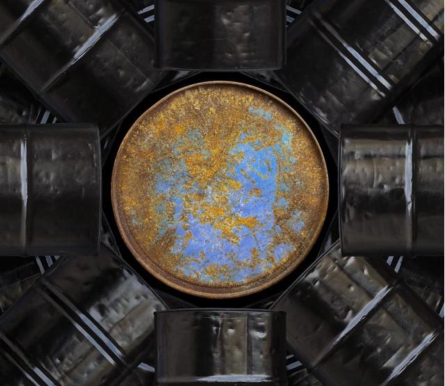 'Oil Barrels, 2008' (detail) by Chris Jordan