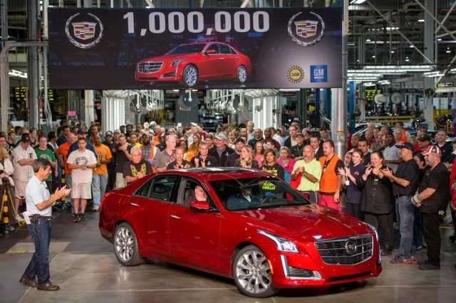 One-millionth Cadillac built is a 2014 CTS.