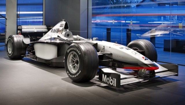 One of the 'Unit 2' cars at McLaren's dealership in Manchester, England
