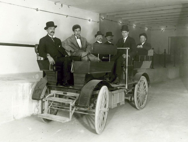 One of two 1909 Studebaker electric cars built for underground use [Architect of the U.S. Capitol]