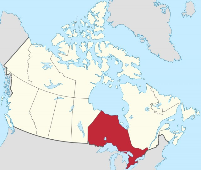 Ontario, Canada [map: Wikimedia Commons]