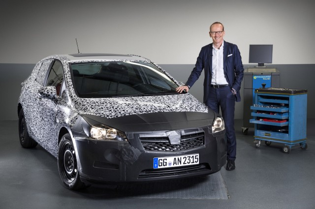 Opel CEO Karl-Thomas Neumann and the 2016 Astra