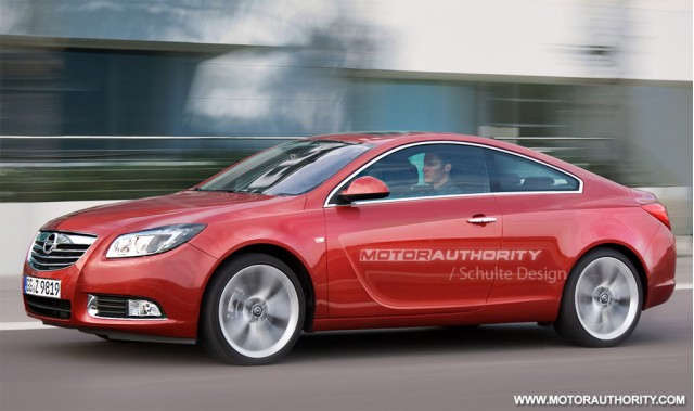 Opel Insignia GTC Coupe/Buick Regal Coupe rendering