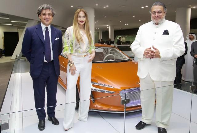 Jennifer Lopez at the opening of the Dubai Audi terminal