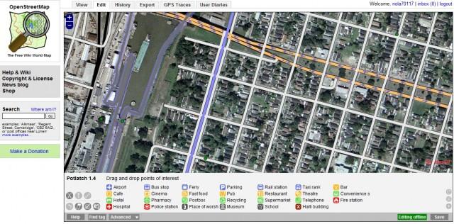 OpenStreetMap screencap