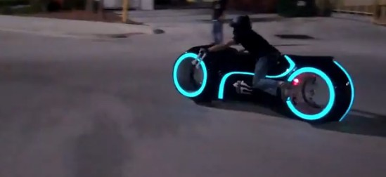 Parker Brothers Custom Tron Legacy Electric Light Cycle