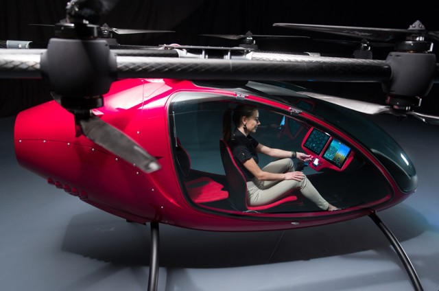 Passenger Drone autonomous manned flying vehicle