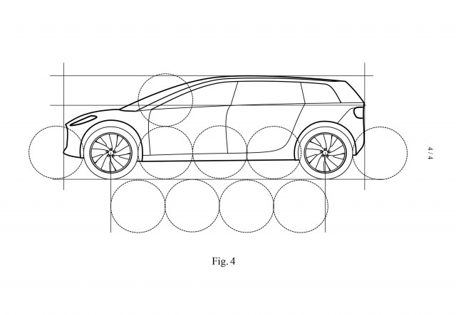 Patent drawing for Dyson electric car due in 2021