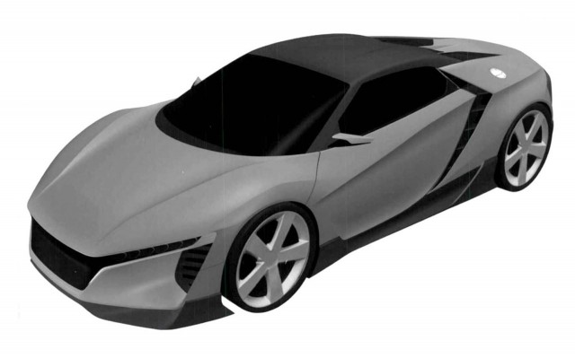 Patent Drawing For Mid Engine Sports Car Filed By Honda