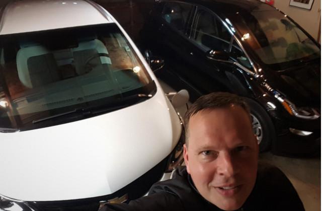 Patrick Reid Chevrolet Bolt EV charing in garage