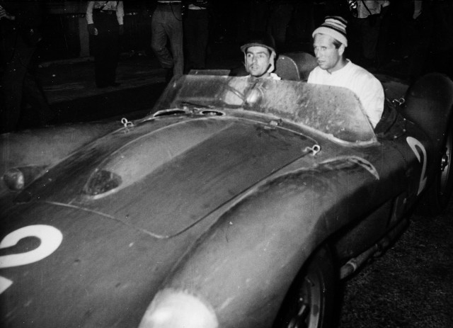 Peter Collins and Phil Hill in the Ferrari 250 Testa Rossa bearing chassis #0704