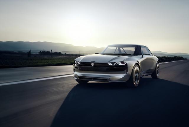 Peugeot e_Legend coupe concept car