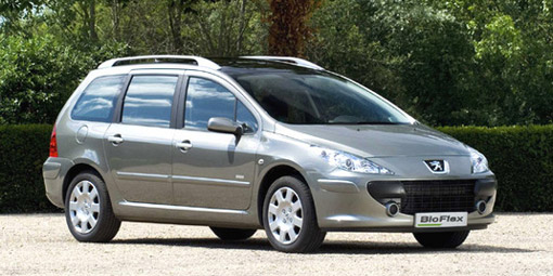 peugeot launches 307 sw bioflex in europe