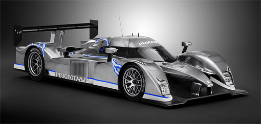 peugeot reveals 908 hy diesel hybrid le mans race car. Black Bedroom Furniture Sets. Home Design Ideas