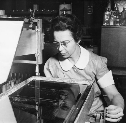 Photo from Edison Tech Center Engineer and scientist Katharine Blodgett is who we have to thank for