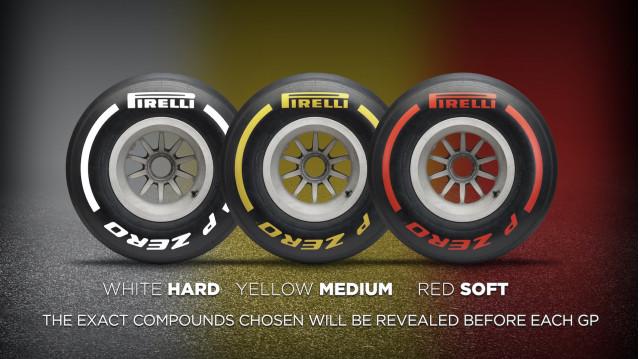Pirelli 2019 F1 tire compound identifier system
