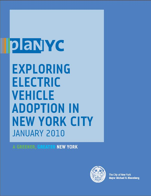 PlaNYC: Exploring Electric Vehicle Adoption in New York City, January 2010, report cover