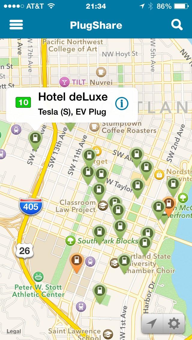 PlugShare iPhone app - 2014