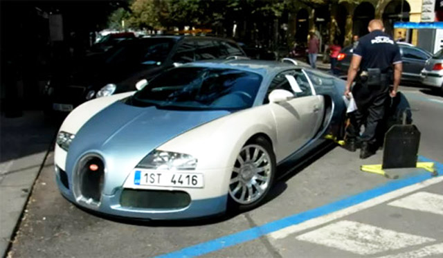 czech police clamp down bugatti veyron video. Black Bedroom Furniture Sets. Home Design Ideas