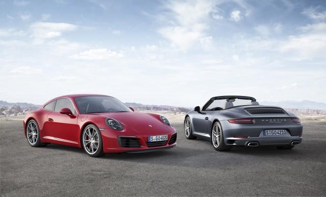 2017 Porsche 911 Carrera S and Carrera Cabriolet