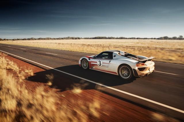 Porsche 918 Spyder in the Australian Outback