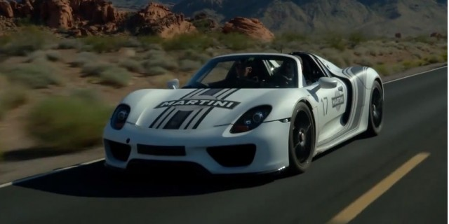 Porsche 918 Spyder prototype undergoes hot weather testing in Nevada's Valley of Fire