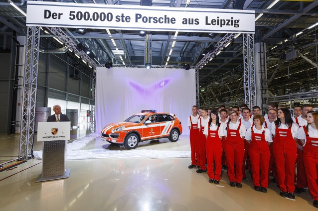 Porsche Cayenne is 500,000th vehicle built at Leipzig facility