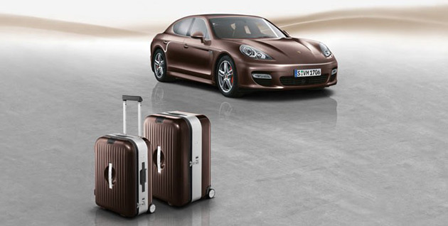 The luggage pieces feature an aluminum frame housed within a polycarbonate outer case