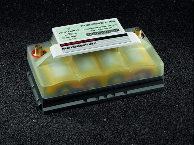 Porsche lightweight lithium-ion 12-Volt starter battery