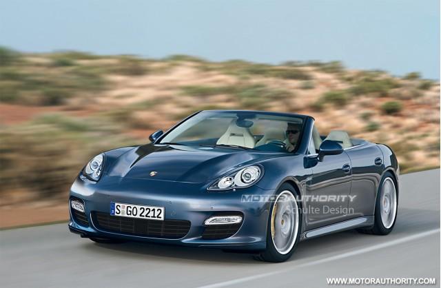 Porsche Panamera Convertible preview rendering