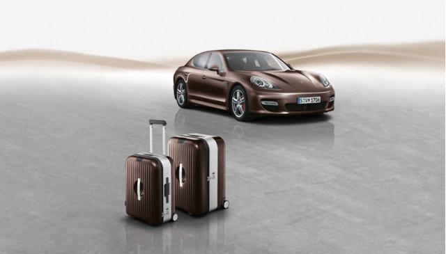 Porsche Panamera with custom luggage
