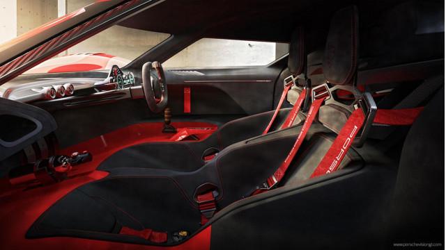 The Porsche 908/4 concept long tail race car