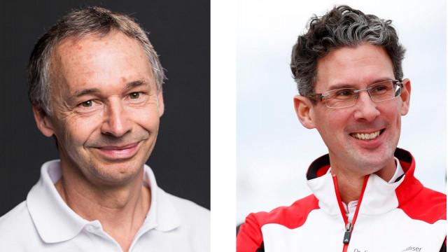 August Achleitner (left) hand over Porsche 911 lead engineer role to Frank-Steffen Walliser (right)