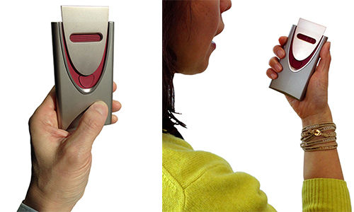 Portable alcohol detector developed by Honda and Hitachi