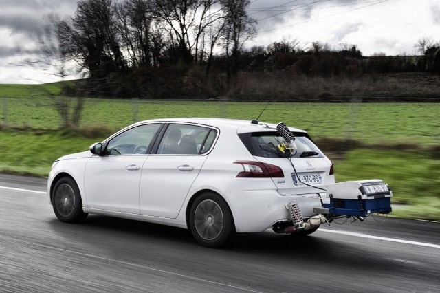 Portable Emissions Measurement Systems (PEMS) on a Peugeot 308
