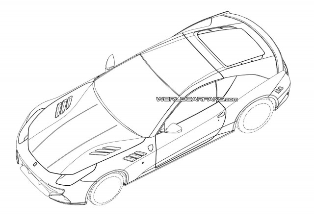 Possible patent drawings for the 2015 Ferrari California replacement - Image via World Car Fans