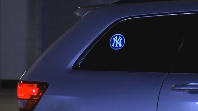 """""""Powerdecal"""" illuminated sticker"""