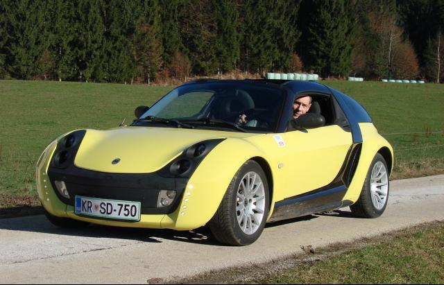 Powerpiki electric Smart Roadster from WAVE rally 2017