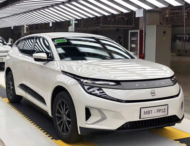 Pre-production of Byton M-Byte - Photo credit: Car News China/Facebook