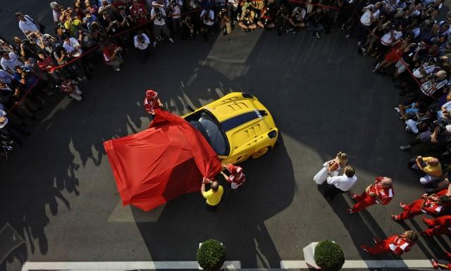 Presentation of special Ferrari 599XX Evo to Google executive Benjamin Sloss