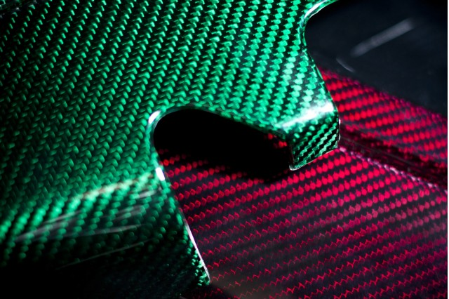 Prodrive deep-luster colored carbon fiber
