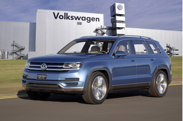 Volkswagen Row Suv Spy Shots